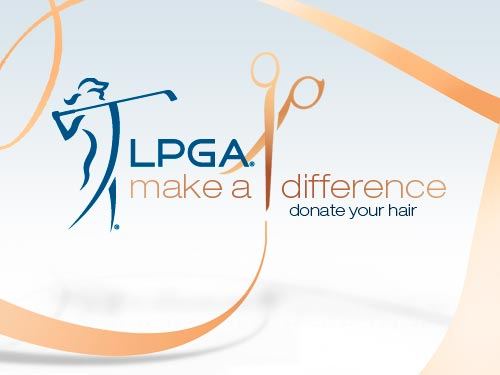 LPGA hair cancer donation
