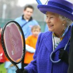 Queen with tennis racket
