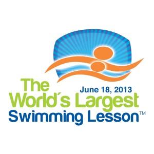 WORLD'S LARGEST SWIMMING LESSON LOGO