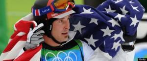 Seth Wescott(R) of the US, after winning
