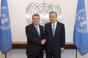 Secretary-General Meets President of the IOC.
