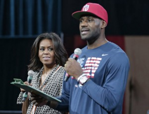 Michelle Obama, LeBron James