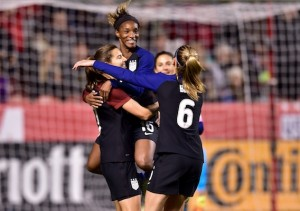 Tobin Heath, Crystal Dunn, USWNT