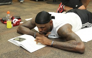 LeBron studying